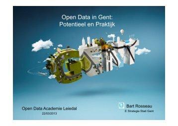 Open Data in Gent: Potentieel en Praktijk - Leiedal