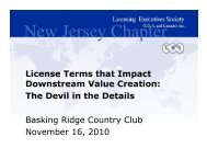New Jersey Chapter - Licensing Executives Society USA and Canada