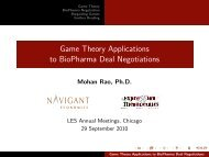 Game Theory Applications to BioPharma Deal Negotiations