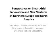 Perspectives on Smart Grid Innovation and New Ventures in ...