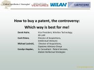 How to Buy a Patent, The Controversy - Licensing Executives ...