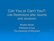 Use Restrictions after Quanta and Jacobsen - Licensing Executives ...