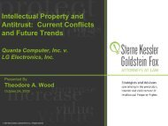 Current Conflicts and Future Trends - Licensing Executives Society ...