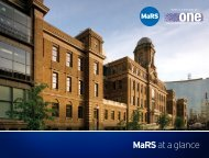 MaRSat a glance - MaRS Discovery District