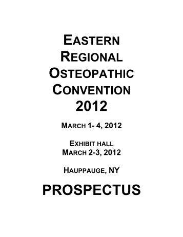 2012 PROSPECTUS - New York Osteopathic Medical Society