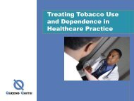 Treating Tobacco Use and Dependence in Healthcare Practice