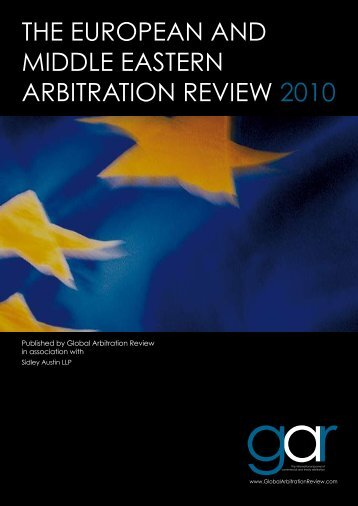 The european and middle easTern arbiTraTion ... - Sidley Austin LLP
