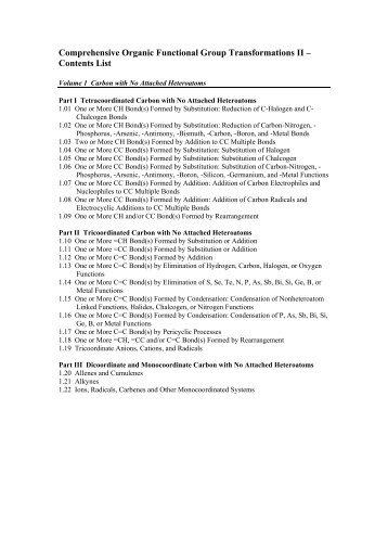 Comprehensive Organic Functional Group ... - Ark.chem.ufl.edu