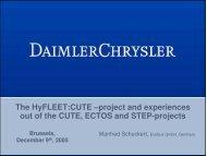 CUTE Daimler Results Presentation, 2005 - International Fuel Cell ...