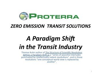 Proterra FCB Update - International Fuel Cell Bus Collaborative