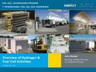 FUEL CELL TECHNOLOGIES PROGRAM Japan Hydrogen & Fuel ...