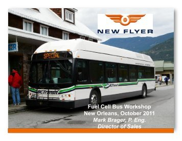 New Flyer FCB Update - International Fuel Cell Bus Collaborative