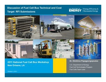 DOE Discussion of Fuel Cell Bus Technical and Cost Targets