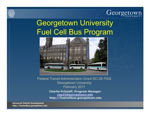 Georgetown University Fuel Cell Bus Program - International