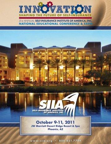 Exposure Opportunity Brochure - Self-Insurance Institute of America ...