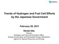 Trends of Hydrogen and Fuel Cell Efforts by the Japanese ...