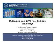 2010 US DOE/DOT Fuel Cell Bus Workshop Outcome - International ...
