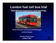 London HyFLEET:CUTE Experience - International Fuel Cell Bus ...