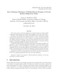 Does Voluntary Disclosure of Medical Errors Prompt or Prevent ...