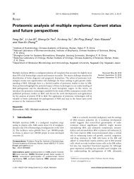 Proteomic analysis of multiple myeloma: Current ... - ResearchGate