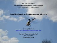Esa / eda workshop unmanned aerial systems and satellite