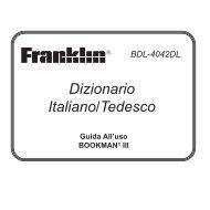 Dizionario Italiano/Tedesco - Franklin Electronic Publishers