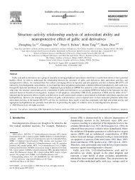 Structure–activity relationship analysis of antioxidant ability and ...