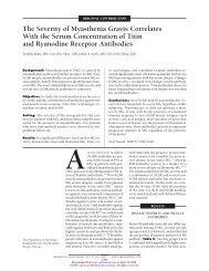 The Severity of Myasthenia Gravis Correlates With ... - Thaiwonders