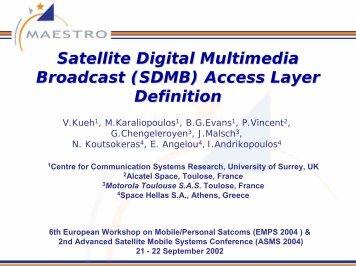 Satellite Digital Multimedia Broadcast (SDMB) Access Layer Definition