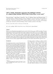 cDNA cloning, functional expression and antifungal activities of a ...