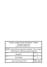 České vysoké učení technické v Praze Fakulta dopravní