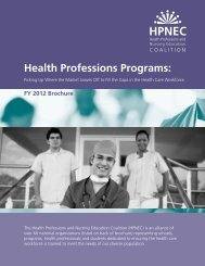 Health Professions Programs: - American Nephrology Nurses ...