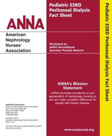Pediatric ESRD - Peritoneal Dialysis Fact Sheet - American ...