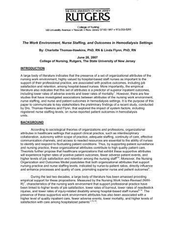 Download the White Paper - American Nephrology Nurses Association