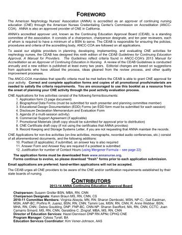 CEAB Guidelines for Continuing Education Approval, A Manual