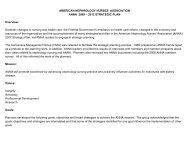 ASSOCIATION ANNA 2009 – 2012 STRATEGIC PLAN Overview