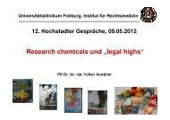 JWH-018 - Kommunalunternehmen Kliniken und Heime des Bezirks ...
