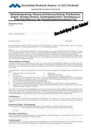 Behandlungsvertrag - Kommunalunternehmen Kliniken und Heime ...
