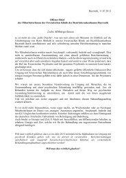 Offener Brief - Kommunalunternehmen Kliniken und Heime des ...