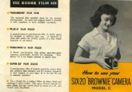 USE KODAK FILM 620 - Brownie Camera