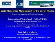 Bangladesh - International Water Week 2013
