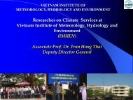 Researches on Climate Services at Vietnam Institute of Meteorology ...