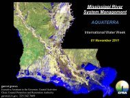 Mississippi River System Management AQUATERRA - International ...
