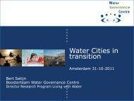 Water Governance Centre - International Water Week 2013