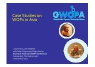 Case Studies on WOPs in Asia - International Water Week 2013