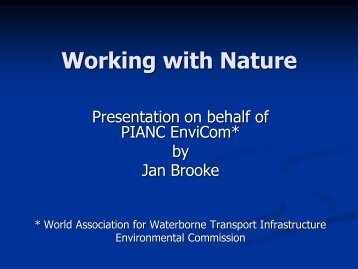 Working with Nature - International Water Week 2013