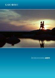 Årsredovisning 2011.pdf - Karo Bio