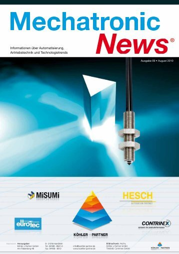 mechatronic-news-Ausgabe-9-August-2010 - Köhler + Partner