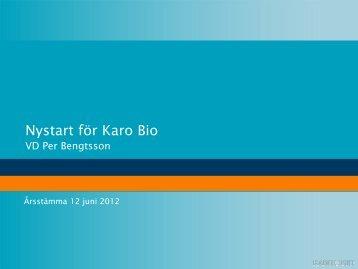Presentation-stämma 2012.pdf - Karo Bio