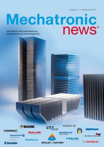 Mechatronic-News-Ausgabe-11-September-2013 - Köhler + Partner